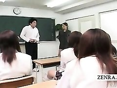 Subtitled CFNM Japanese classroom onanism flash
