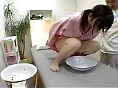 Japanese girl in a hotty salon to undergo urine test