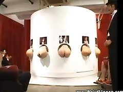 Chinese butts stuffing out of gloryholes