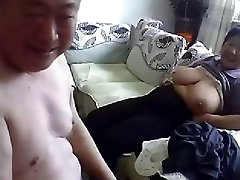 Old Asian Couple Get Naked and Fuck on Cam