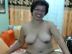 Filipina Asian Mature Madura Oma with Glasses