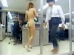 Chinese Girl At Work Bare