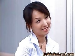 Sexy real asian Shiho getting jizz partTrio