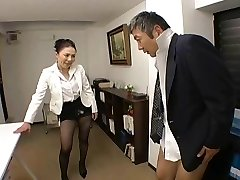 Japanese Boss fucks her worker so rigid at office - RTS