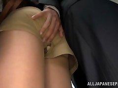 Akiho Yoshizawa getting boned at the office