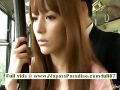 Miho Maeshima chinesisches Mädchen bekommt ein cum Belastung auf Ihrer Brille