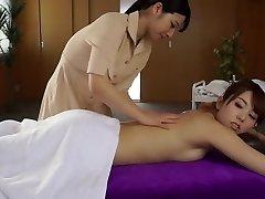 Finest Japanese whore Ai Uehara, Yui Hatano in Super-sexy massage, lesbian JAV video