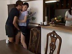 Asiatique filles séduit et sexués en collants