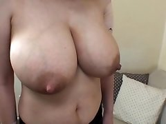 wifey's huge lactating hooters 1