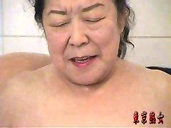 Chinese granny enjoying lovemaking