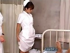 Chinese College Girl Nurses Training and Practice