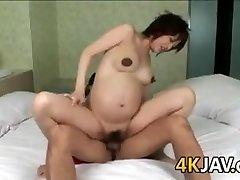 Pregnant Japanese Hottie