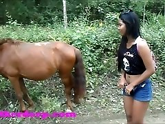 Heather Deep Four wheeling on scary fast quad and Pissing next to horses in the