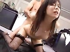 Japanese employee works her boss for a little after hump prize