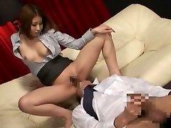 Outstanding Japanese whore in Exotic Secretary, Massage JAV clip
