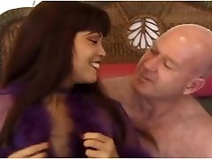 Slutty asian MILF Mimi fucks an ugly old hairless guy