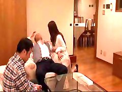 Wife's friends steps in to give hubby a little bang and suck