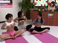 Exotic Japanese cockslut Anri Sugisaki, Chika Arimura in Outstanding Live showcases JAV scene