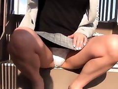 Asian teen filmed upskirt