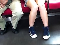 japanese upskirt no underpants in train