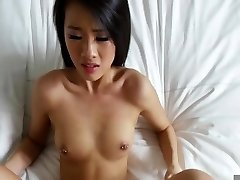 Asian nailed in the bed