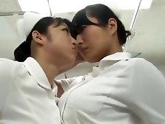 japonés catfight Enfermera pantimedias lucha Batalla