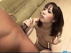 Sensual Ageha Kinashita hankers to swallow some jizz