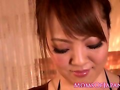 Huge-titted japanese milf titfucking