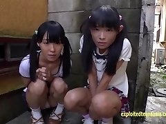 Puny Jav Teenager Schoolgirls Rina And Asami Give Public BJ And Urinate
