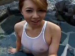 Swimsuit Chinese sluty Yumi in pool