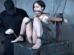 Pretty Asian babe Milcah Halili is punished with magic wand and buttfuck beads