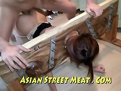 Chinese Sweety Sodomised In Tights And Stocks