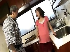 Naughty pregnant housewife gives blowjob