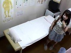 Chubby Japanese enjoys a hot erotic voyeur massage fun