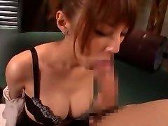 Wild Japanese chick Tsubasa Amami in Amazing Handjobs, Blowjob JAV video