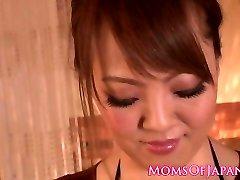 Busty japanese cougar boob banging
