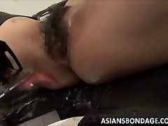Japanese babe bond and fuckd by a drilling