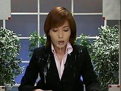 Japan News with Cumshots. Scene 2