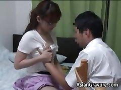 Handsome asian with big breasts home schoolteacher part1
