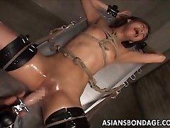 Asian bondage pounding machine