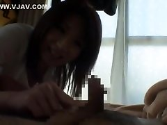 Hottest Japanese girl Saya Mizuki in Crazy Blowjob, Casting JAV clip