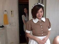 Sumptuous Oriental Maid in erotic hotel scene