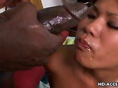 Asian biotch Kyanna Lee interracial romp