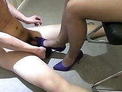 Japanese damsel high heels trampling