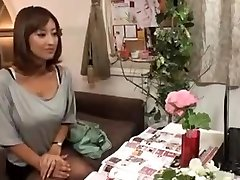 Horny Japanese Wifey Kneaded and then Fucked