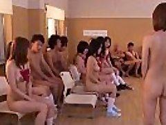 Subtitled uncensored Japanese nudist school club fucky-fucky