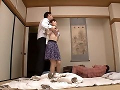 Housewife Yuu Kawakami Drilled Hard While Another Man Sees
