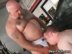Hairy gay dudes gargle weenie and get part1