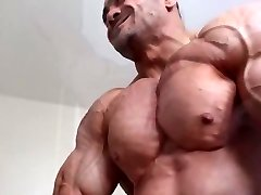 Cock-squeezing shirt flexing