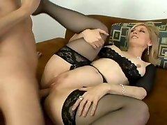 Classic Nina Hartley gets butt penetrated